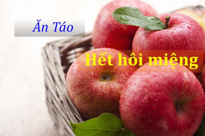 Ăn táo giúp khử mùi thuốc lá trong miệng hữu dụng 1