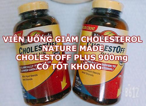 Viên uống giảm cholesterol Nature Made Cholest Off Plus 900mg có tốt không?