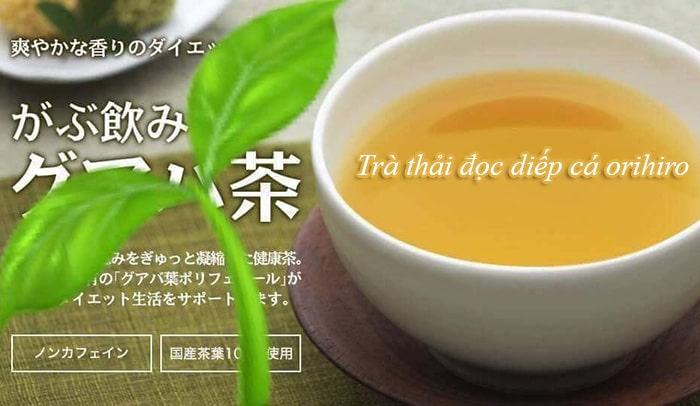 cách pha trà diếp cá Orihiro