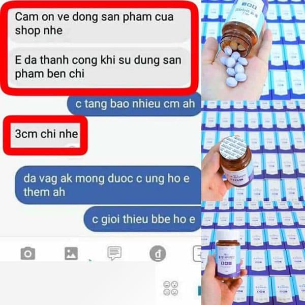 Review viên uống nở ngực genie boom fat yline từ một số người dùng trên Facebook