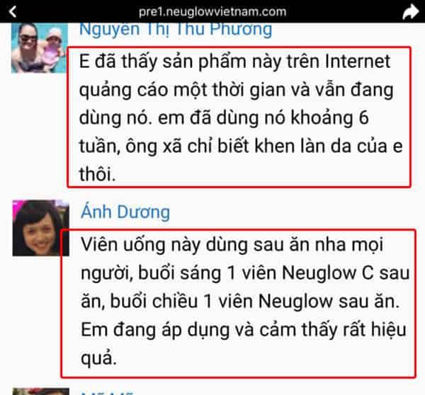 Review từ những người đã sử dụng Neuglow C 1