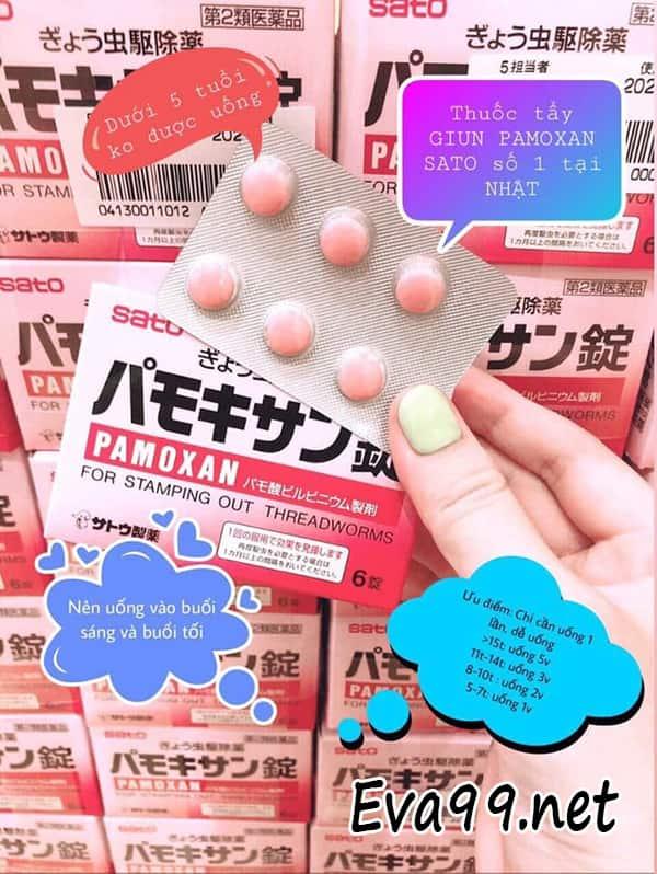 Công dụng của thuốc tầy giun Sato: