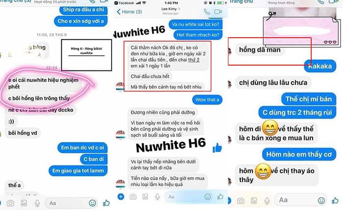 Kem trị thâm nuwhite h6 có hiệu quả không? Review chi tiết