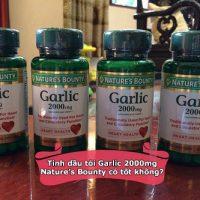 Tinh dầu tỏi Garlic 2000mg Natures Bounty có tốt không-1