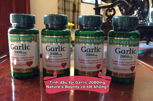 Tinh dầu tỏi Garlic 2000mg Natures Bounty có tốt không?