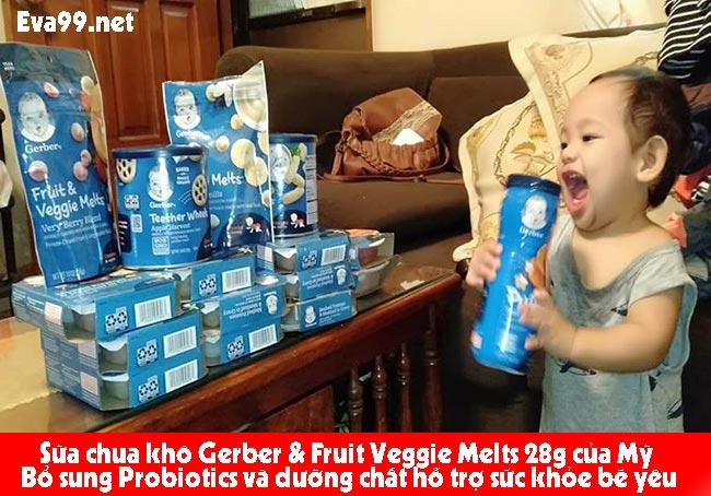 Cách ăn sữa chua khô gerber hữu hiệu từ chuyên gia