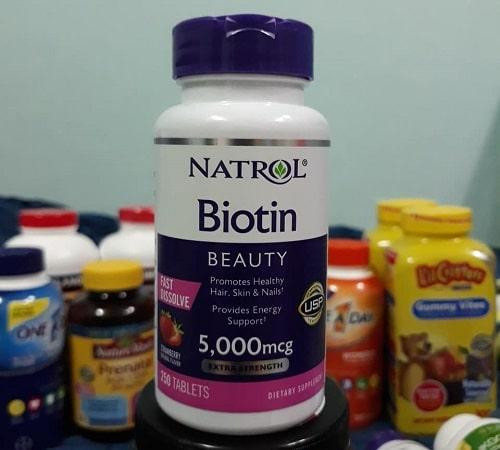 Viên ngậm Natrol Biotin Beauty 5000mcg review-2