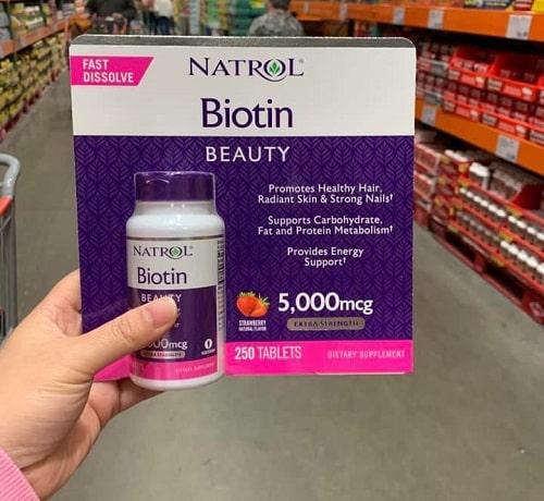 Viên ngậm Natrol Biotin Beauty 5000mcg review-3