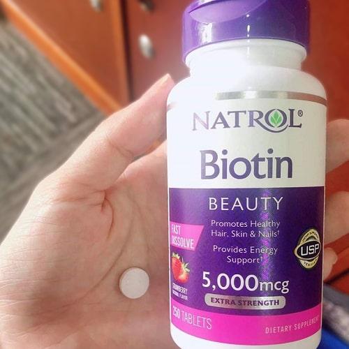 Viên ngậm Natrol Biotin Beauty 5000mcg review-4