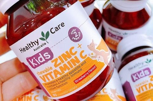 Viên nhai Healthy Care Kids Zinc + Vitamin C có tốt không?