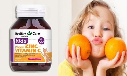 Viên nhai Healthy Care Kids Zinc + Vitamin C có tốt không-3