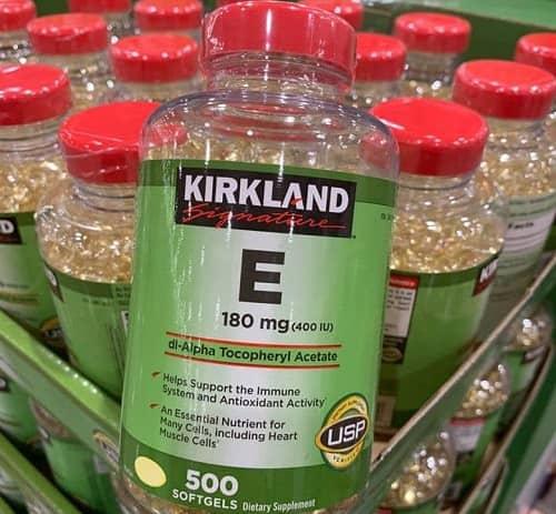 Viên uống vitamin E Kirkland review chi tiết