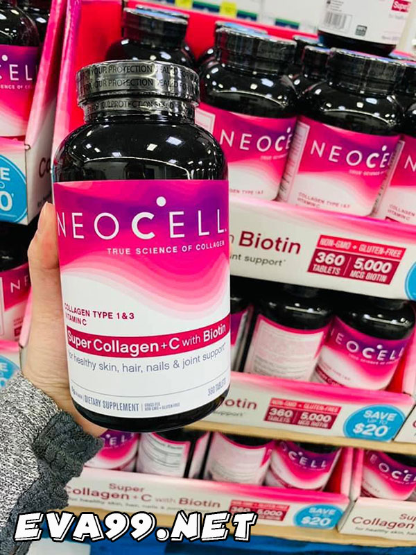 Thông tin về sản phẩm neocell super collagen + vitamin c & biotin mẫu mới của Mỹ