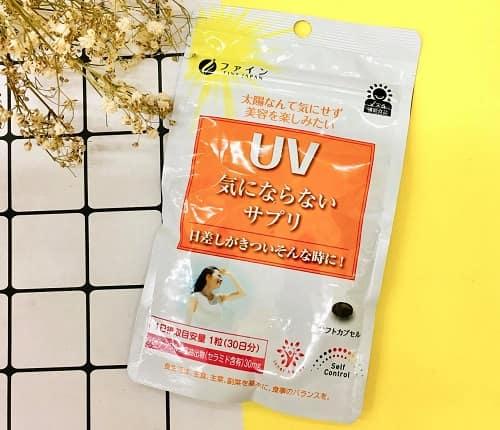 Viên uống chống nắng UV Fine Japan review