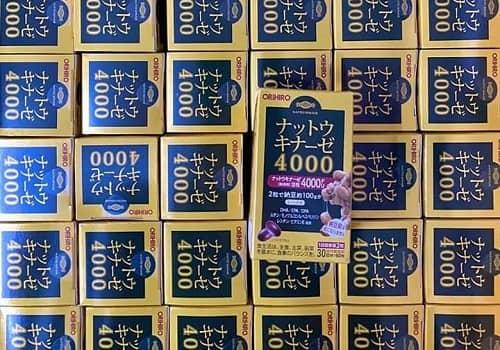 Thuốc chống đột quỵ Nattokinase 4000FU Orihiro review