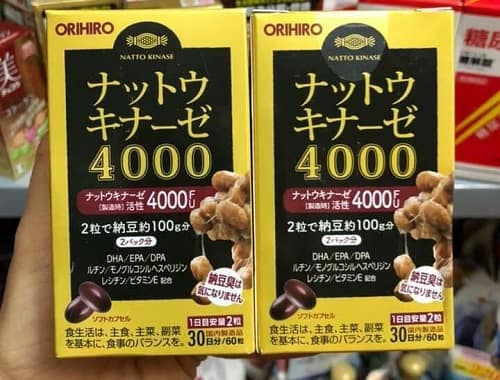 Thuốc chống đột quỵ Nattokinase 4000FU Orihiro review-2