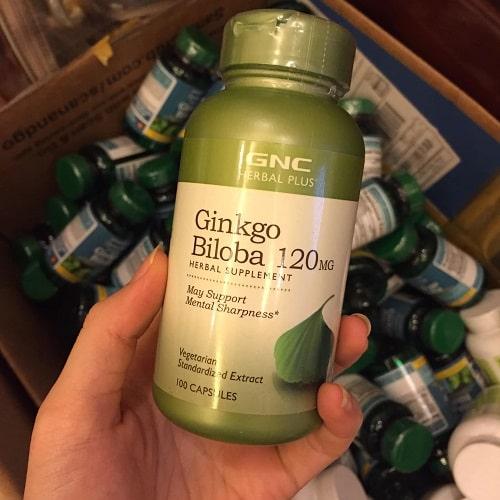 Viên uống bổ não GNC Ginkgo Biloba review-2