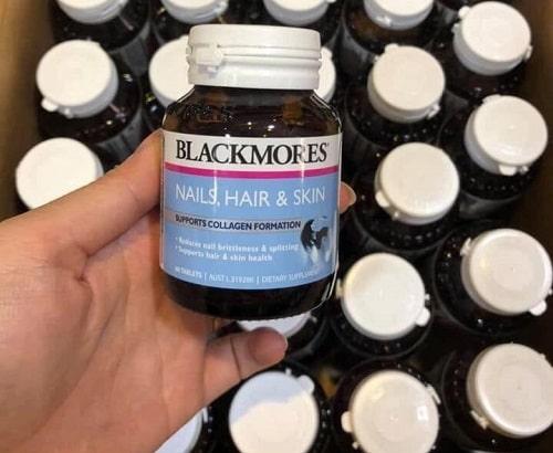 Review thuốc Blackmores Nails Hair and Skin mẫu mới-2