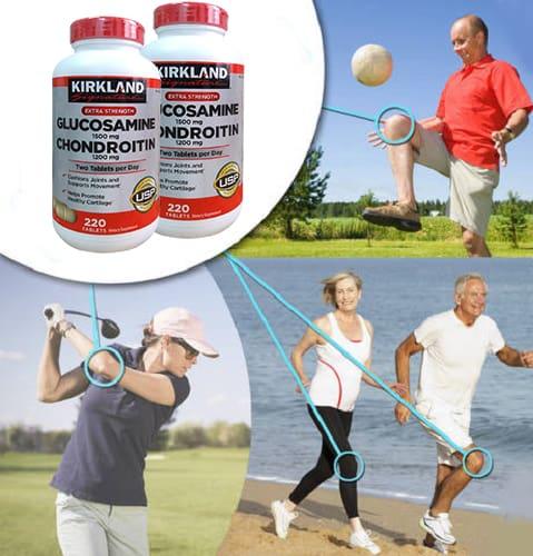 Thuốc bổ khớp Kirkland Signature Glucosamine Chondroitin review-5