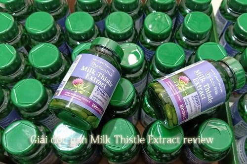 Thuốc giải độc gan Milk Thistle Extract review