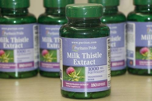 Thuốc giải độc gan Milk Thistle Extract review-3