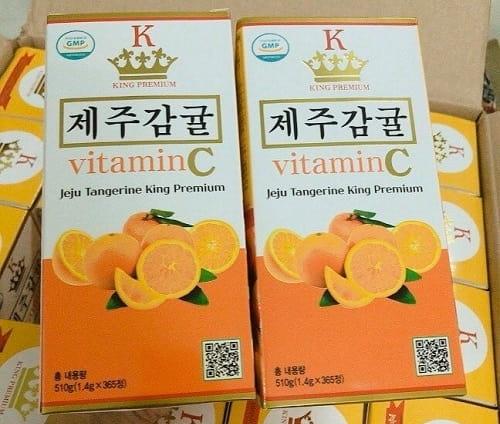 Viên ngậm Vitamin C Jeju Tangerine King Premium review