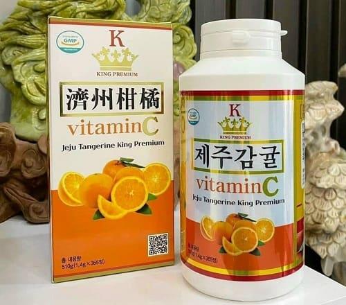 Viên ngậm Vitamin C Jeju Tangerine King Premium review-3
